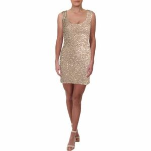 MARIA BIANCA NERO Silk Sequined Cocktail Dress